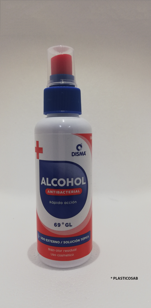 ALCOHOL ANTIBACTERIAL 120 ml / DISMA