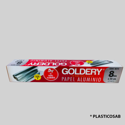 [7862100141266] PAPEL ALUMINIO 75FT / 22.8 MTS X 30 CM GOLDER